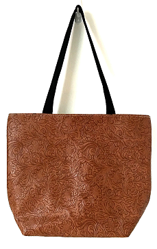 Faux Leather Medium Zip Totes
